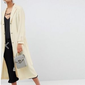 Crepe Duster Trench Coat